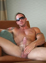 Straight Muscle Guy, Sebastian Steel, Jerking His Big Cock For You