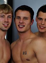 Three hot studs gay sex scene