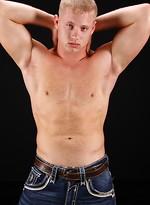 Hot stud Lars strokes dick