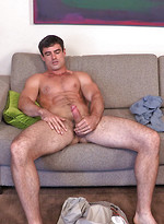 Muscle athlet Daniel plays football and strokes dick