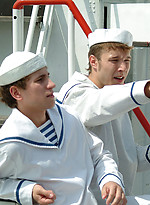Two sailors Benjamin Niall and Thomas oral sex scene