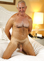 Gray daddy Dick Ryan strokes uncut dick