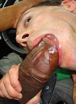 Big black cock fucking a gay dude deep and hard
