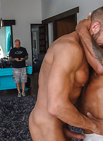David Benjamin gives Daddy Dallas Steele his ass and mouth to pay the rent